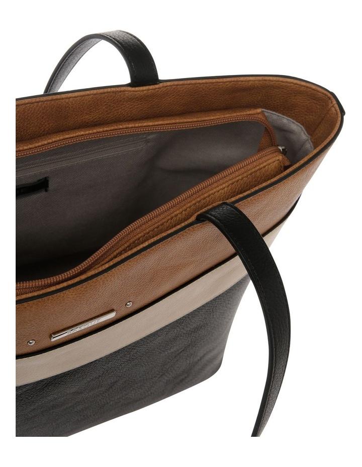 Amy Double Handle Black Tote Bag image 4