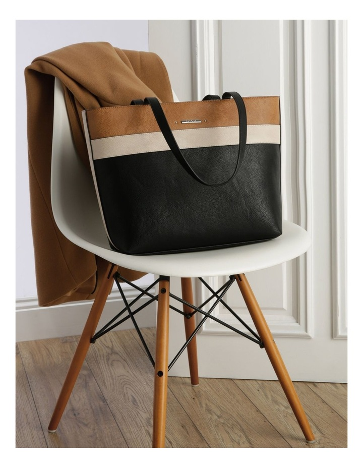 Amy Double Handle Black Tote Bag image 5