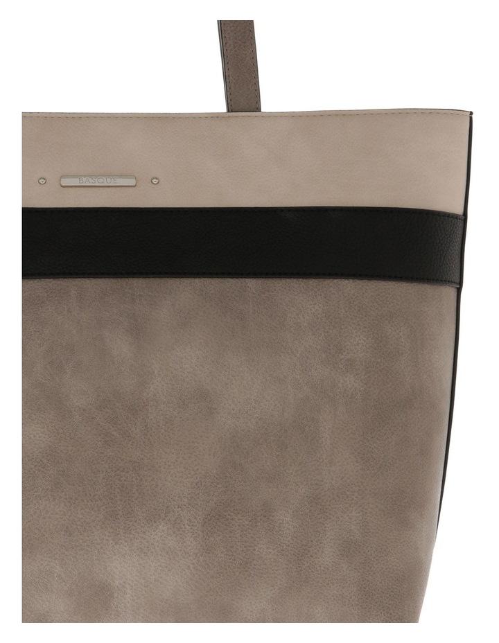 Amy Double Handle Grey Tote Bag image 3