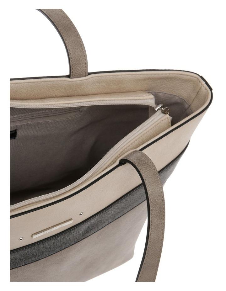 Amy Double Handle Grey Tote Bag image 4