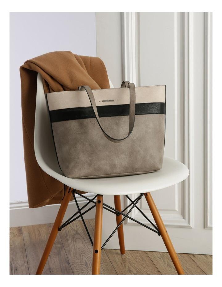 Amy Double Handle Grey Tote Bag image 5