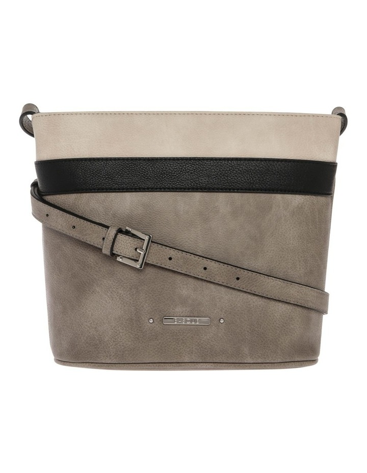 Amy Zip Top Grey Crossbody Bag image 1