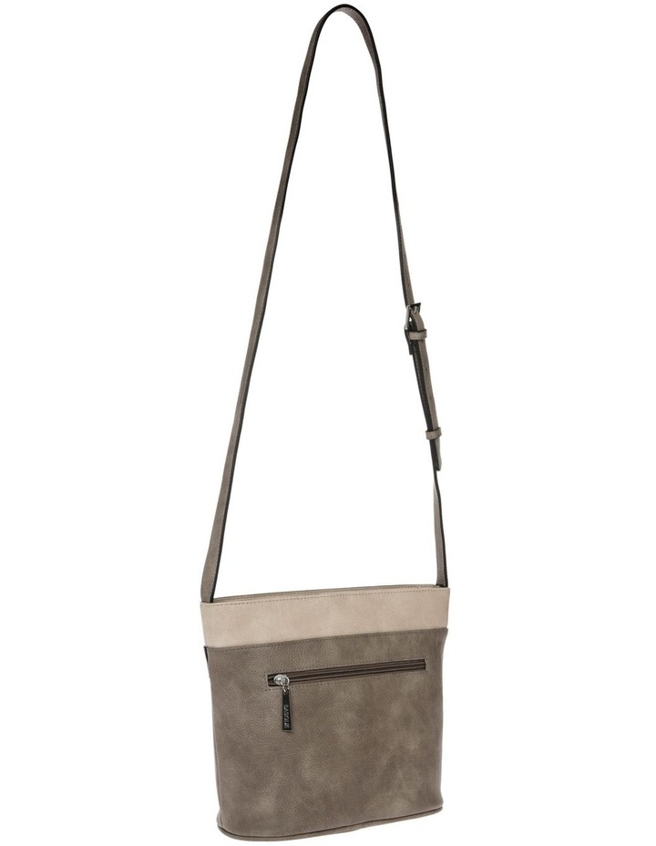 Amy Zip Top Grey Crossbody Bag image 2