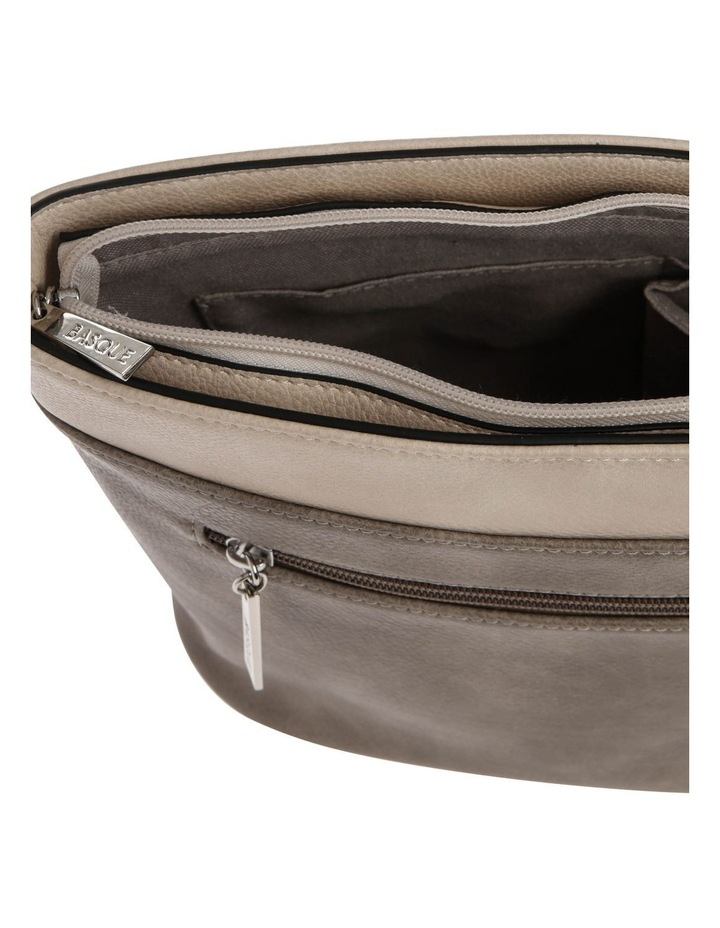 Amy Zip Top Grey Crossbody Bag image 4