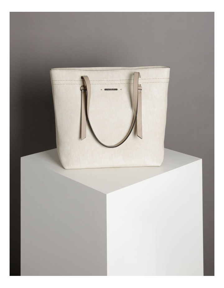 Cathy Tote in Cream image 4