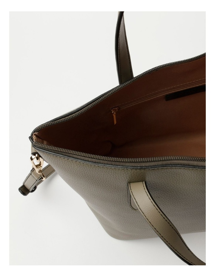Dion Medium Khaki Tote Bag image 4