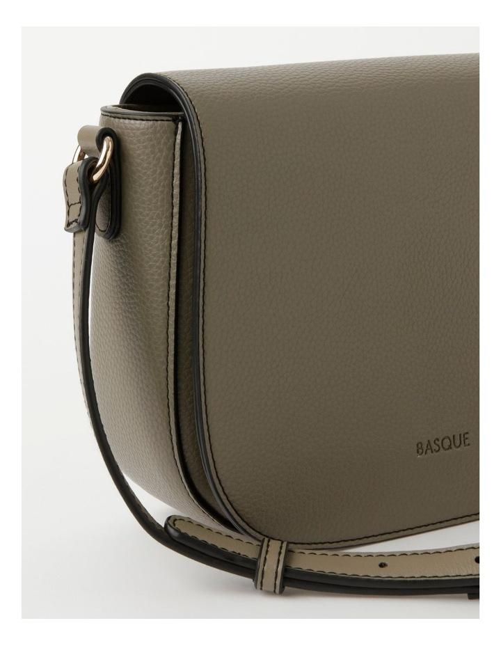 Dion Flapover Khaki Crossbody Bag image 3