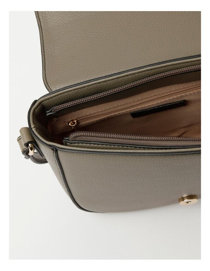 Dion Flapover Khaki Crossbody Bag image 4