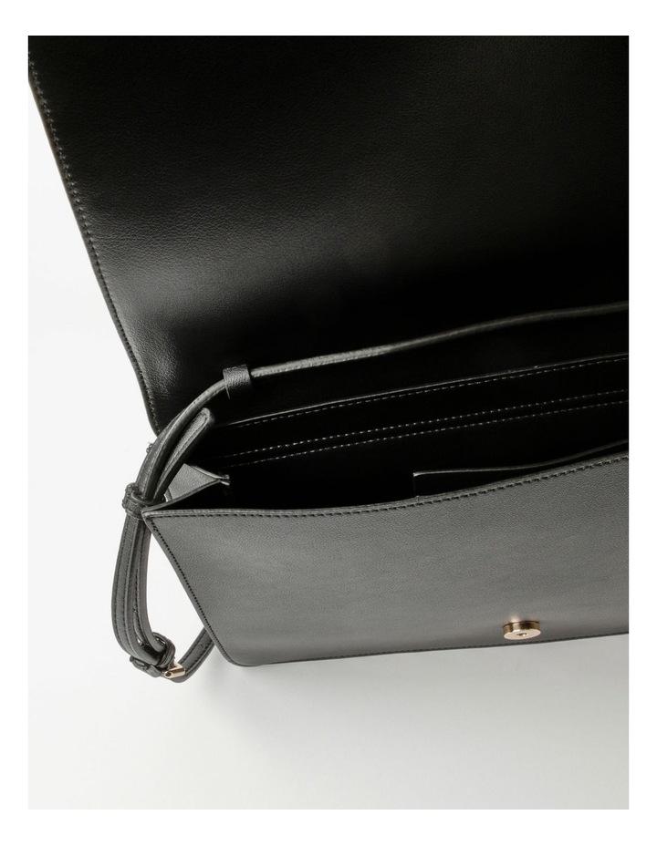 Erin Flapover Black Crossbody Bag image 4