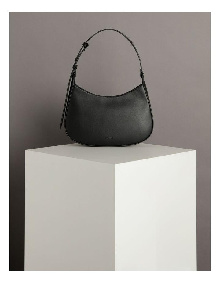 Cara Baguette Black Shoulder Bag image 5