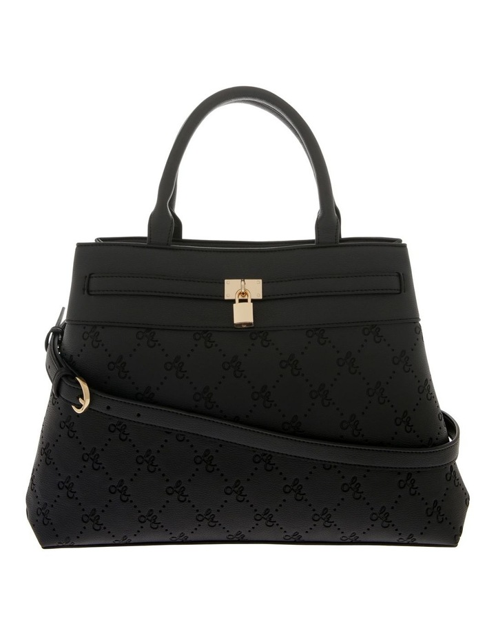 French Kiss Double Handle Black Tote Bag image 1