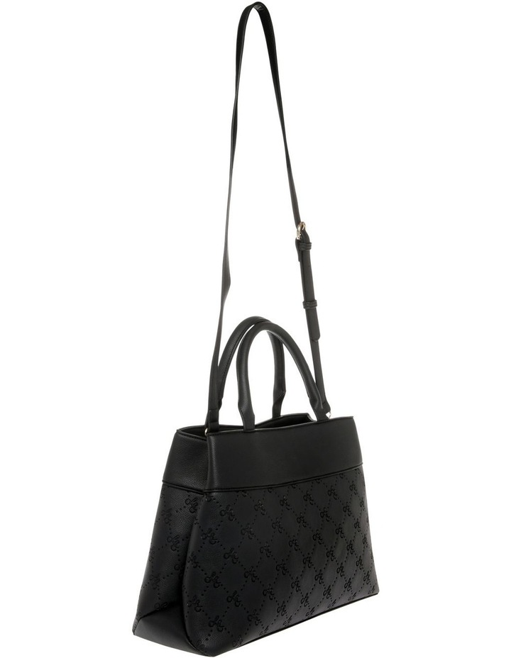 French Kiss Double Handle Black Tote Bag image 2