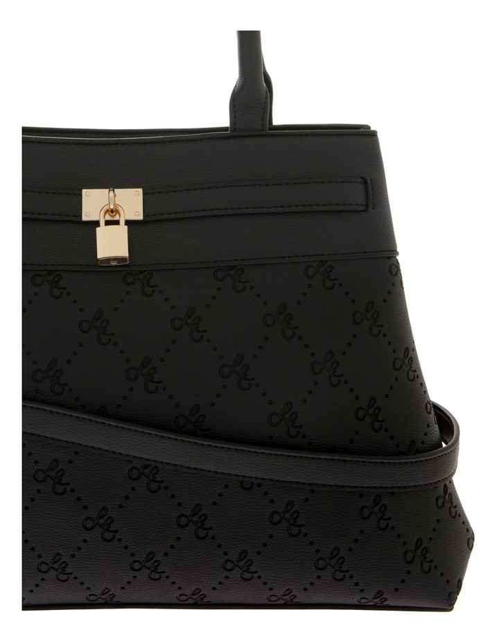 French Kiss Double Handle Black Tote Bag image 3