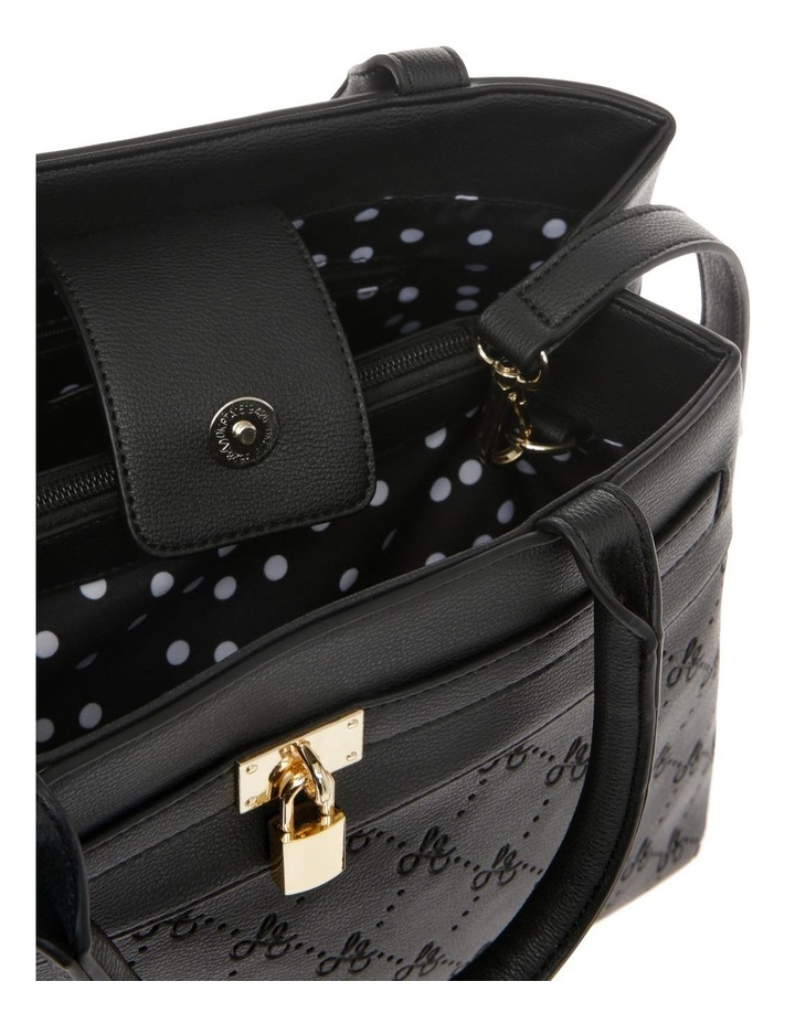 French Kiss Double Handle Black Tote Bag image 4