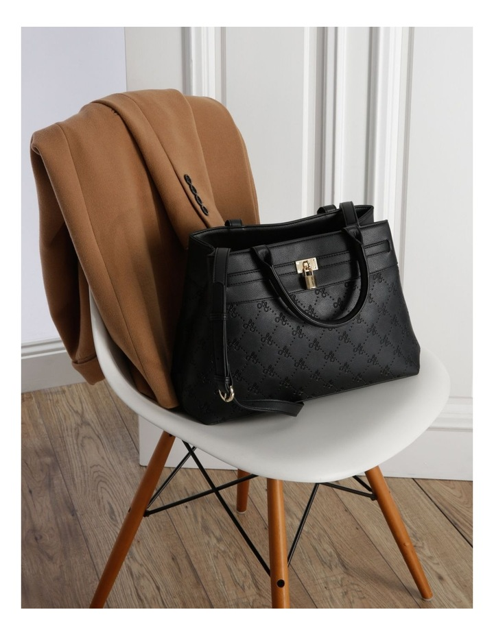 French Kiss Double Handle Black Tote Bag image 5