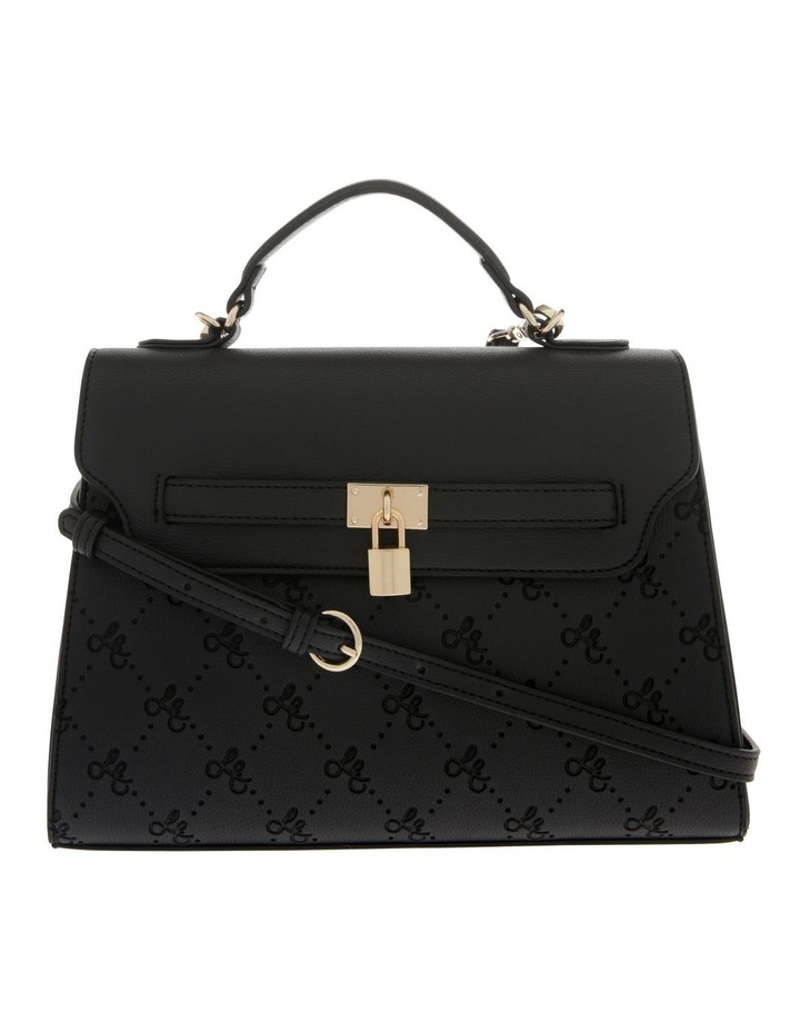 French Kiss Flap Over Black Satchel image 1