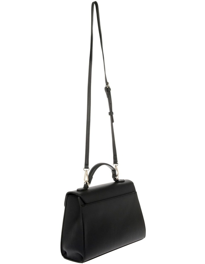 French Kiss Flap Over Black Satchel image 2