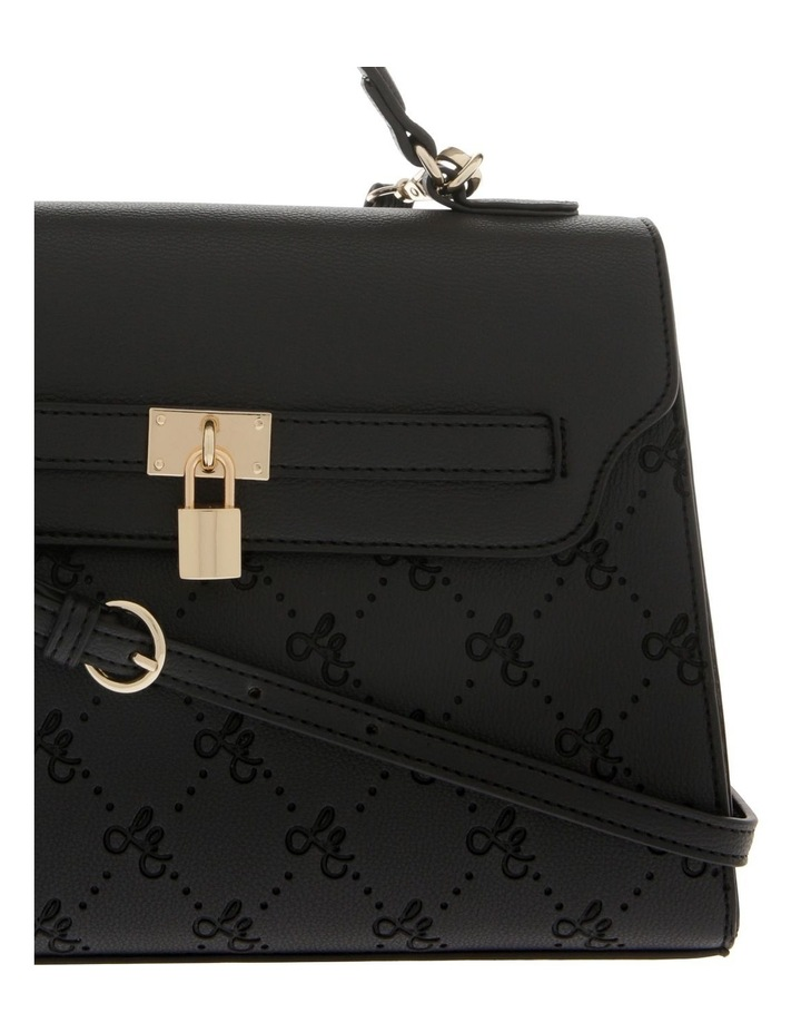 French Kiss Flap Over Black Satchel image 3