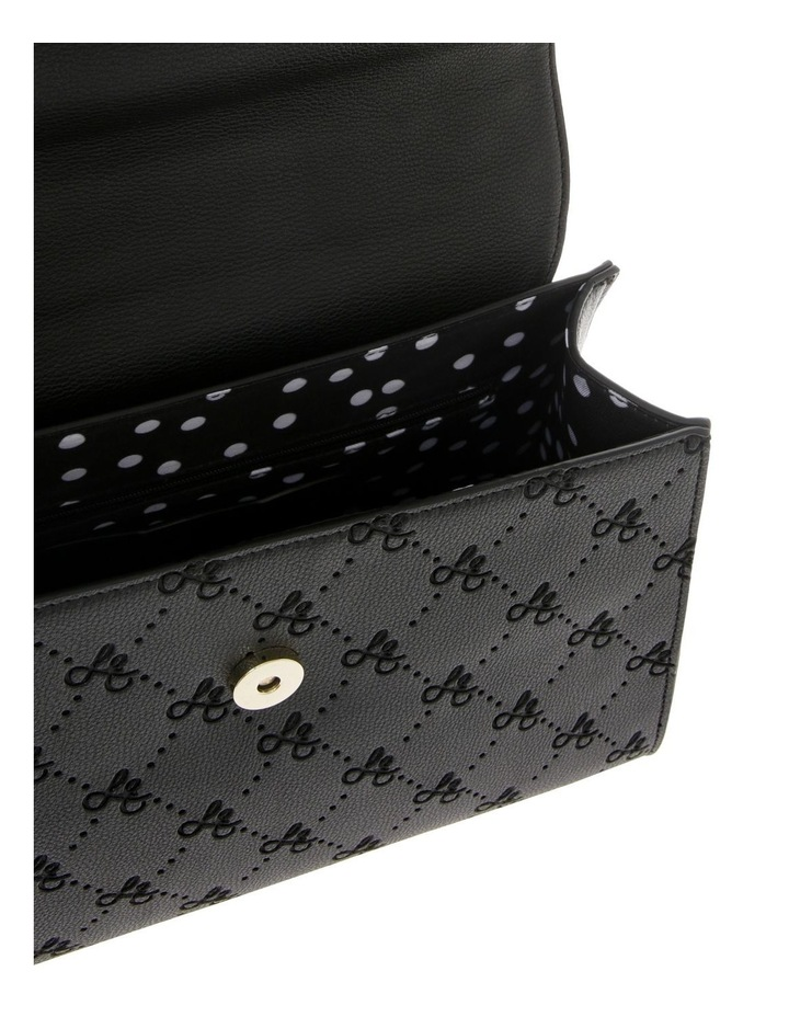 French Kiss Flap Over Black Satchel image 4