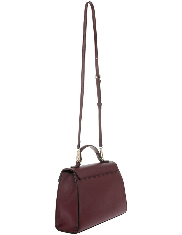 French Kiss Flap Over Burgundy Satchel image 2