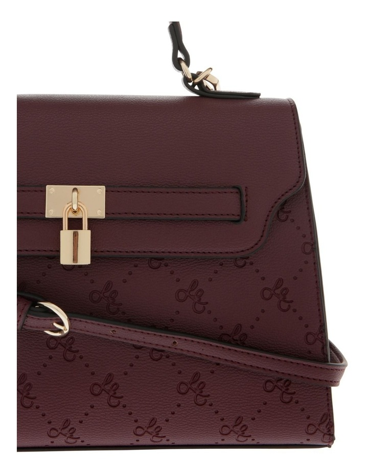 French Kiss Flap Over Burgundy Satchel image 3
