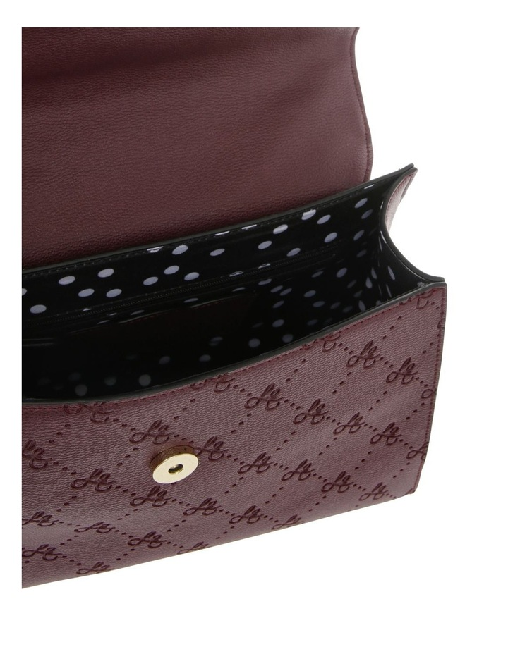 French Kiss Flap Over Burgundy Satchel image 4