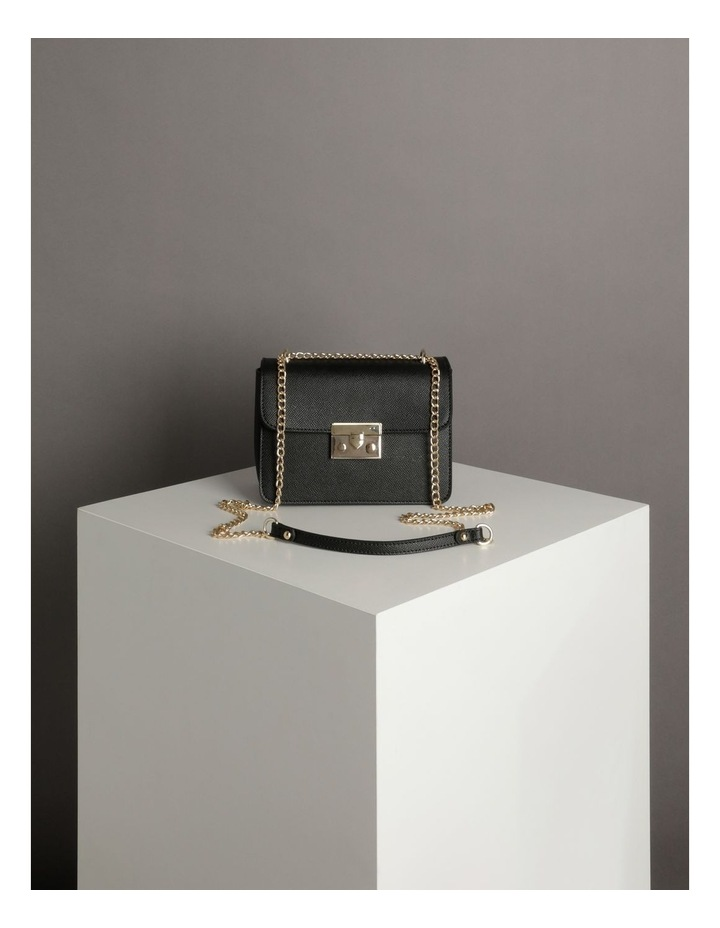 'Love Is' Black Crossbody Bag image 6