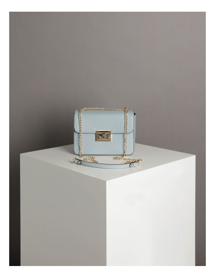 'Love Is' Pale Blue Crossbody Bag image 6