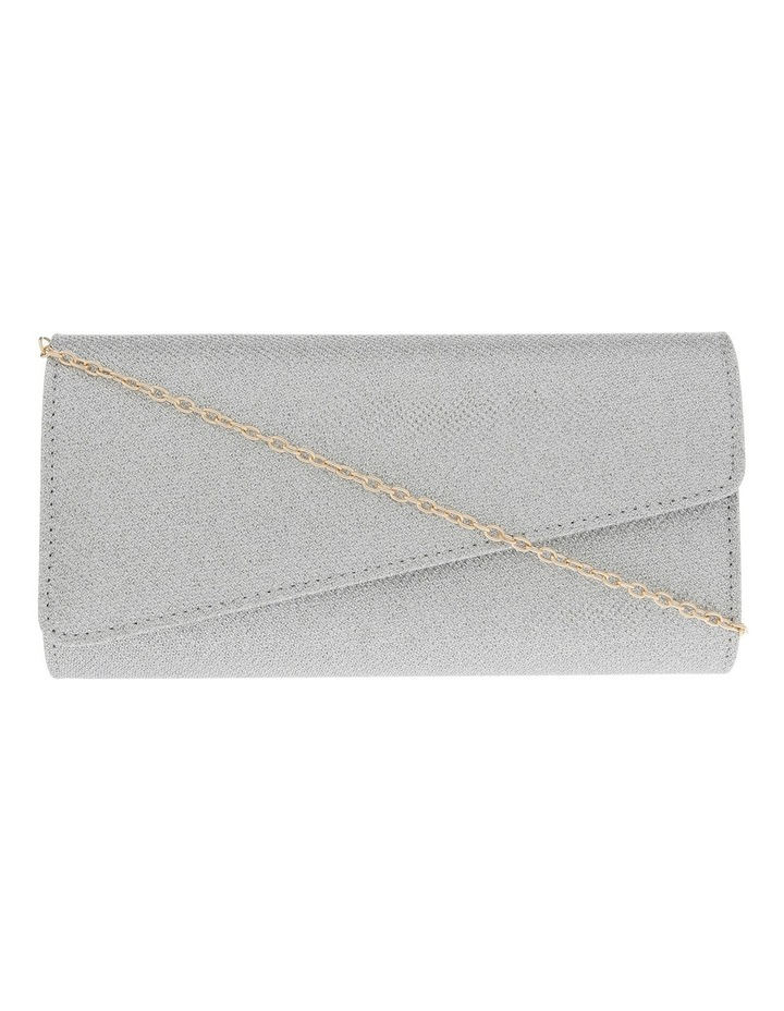 Angled Envelope Flap Over Clutch Bag image 1