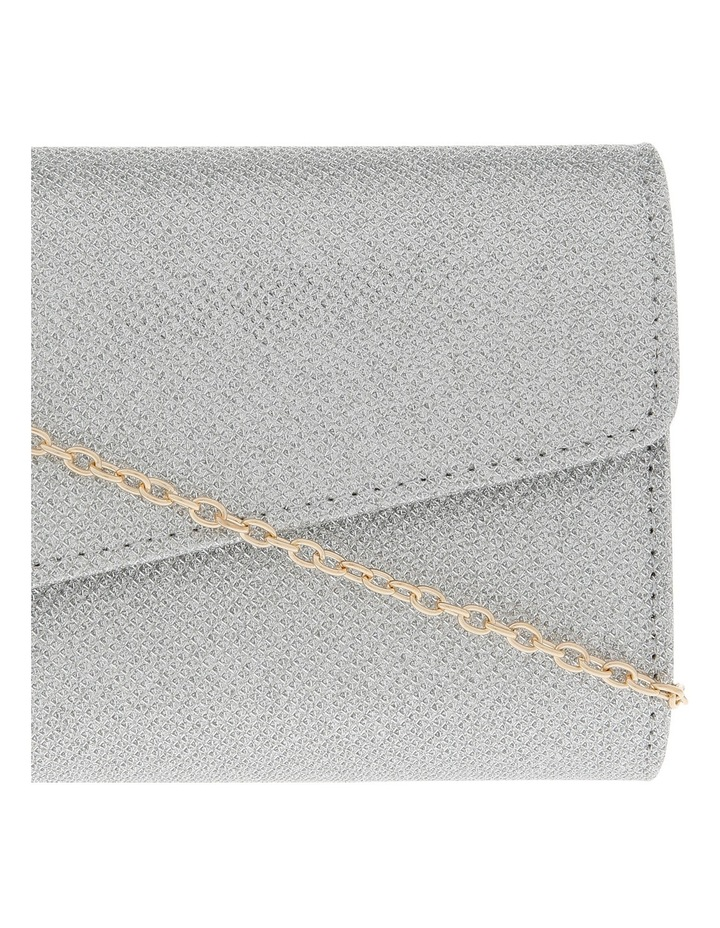 Angled Envelope Flap Over Clutch Bag image 3