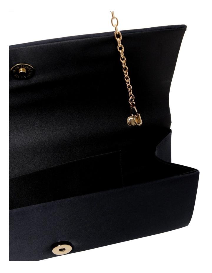 Pleat Satin Clutch Bag image 4