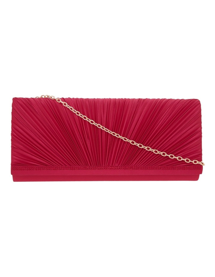 Pleat Satin Clutch Bag image 1