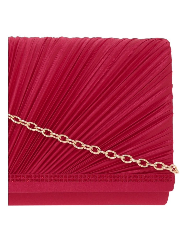 Pleat Satin Clutch Bag image 3
