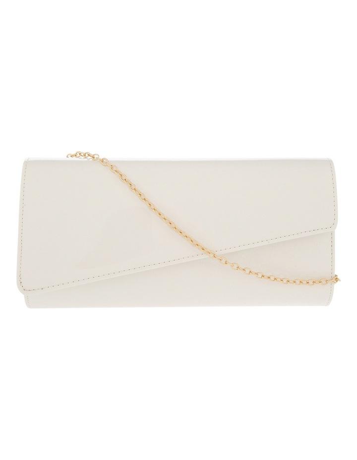 Angled Envelope Flap Over Clutch Bag image 1