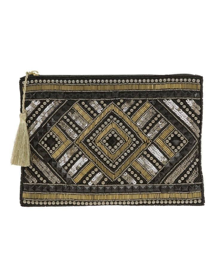 Lyon Zip Top Clutch Bag image 1