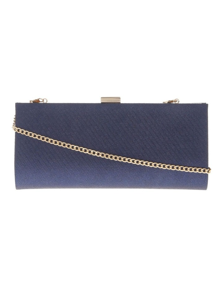 Nefertiti Lock Navy Clutch Bag image 1