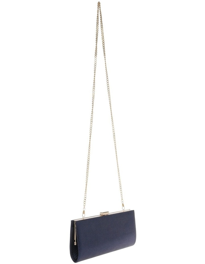 Nefertiti Lock Navy Clutch Bag image 2