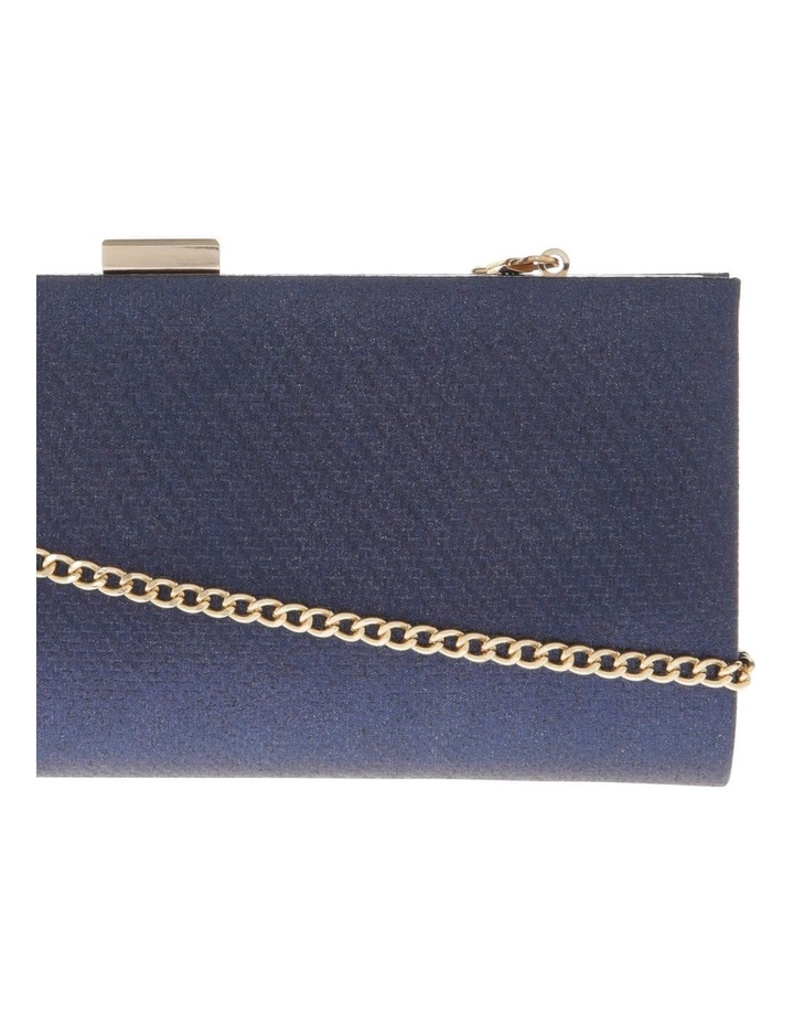 Nefertiti Lock Navy Clutch Bag image 3