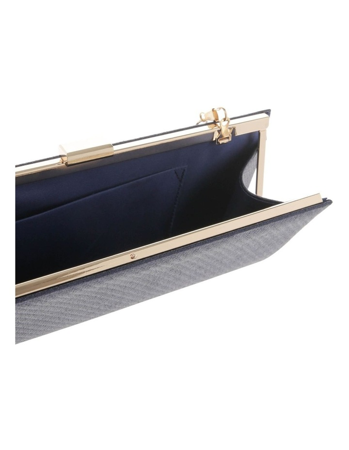Nefertiti Lock Navy Clutch Bag image 4