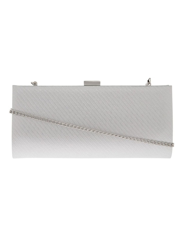 Nefertiti Lock Silver Clutch Bag image 1
