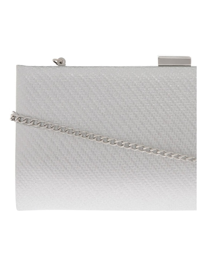 Nefertiti Lock Silver Clutch Bag image 3