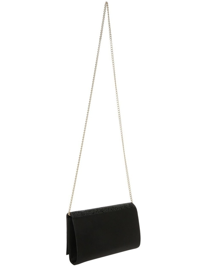 Athena Glitter Flap Over Black Clutch Bag image 2