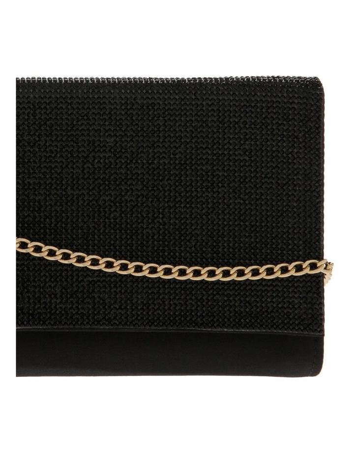 Athena Glitter Flap Over Black Clutch Bag image 3