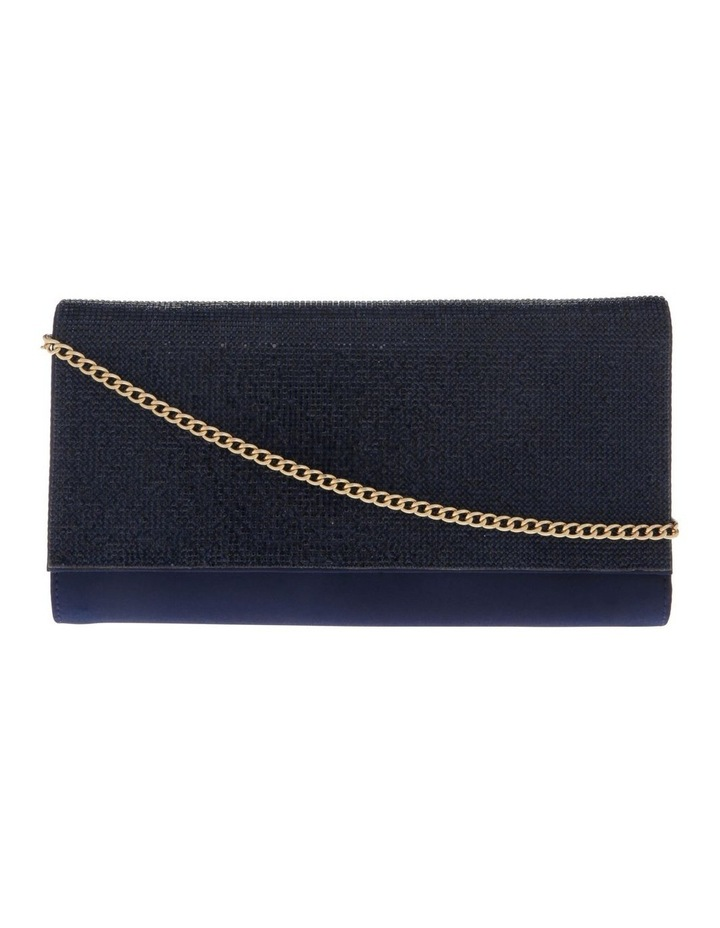 Athena Glitter Flap Over Navy Clutch Bag image 1