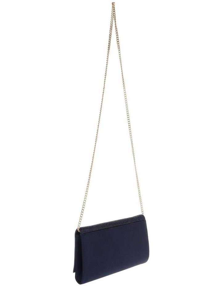 Athena Glitter Flap Over Navy Clutch Bag image 2