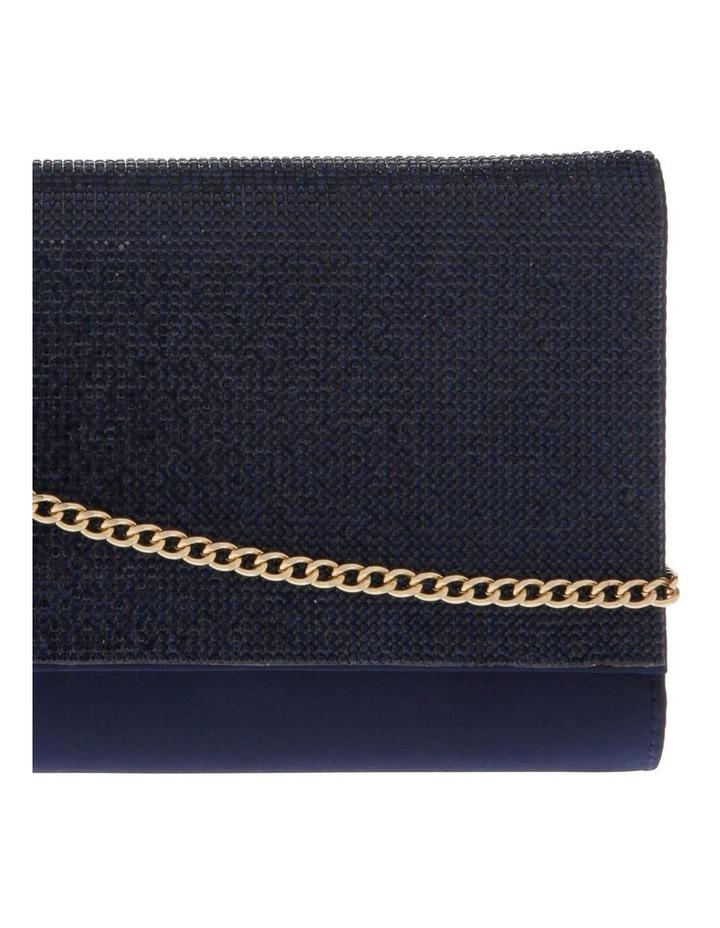 Athena Glitter Flap Over Navy Clutch Bag image 3