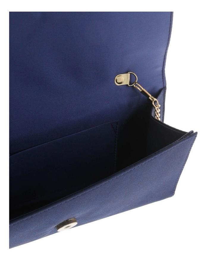 Athena Glitter Flap Over Navy Clutch Bag image 4
