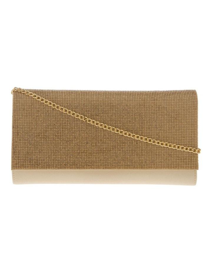 Athena Glitter Flap Over Gold Clutch Bag image 1