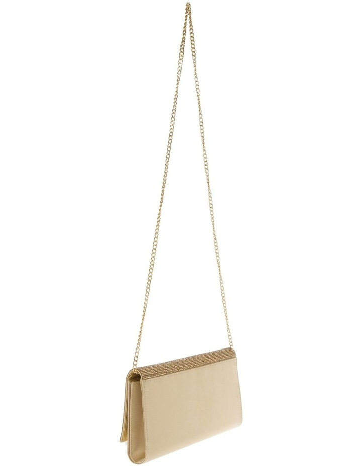 Athena Glitter Flap Over Gold Clutch Bag image 2