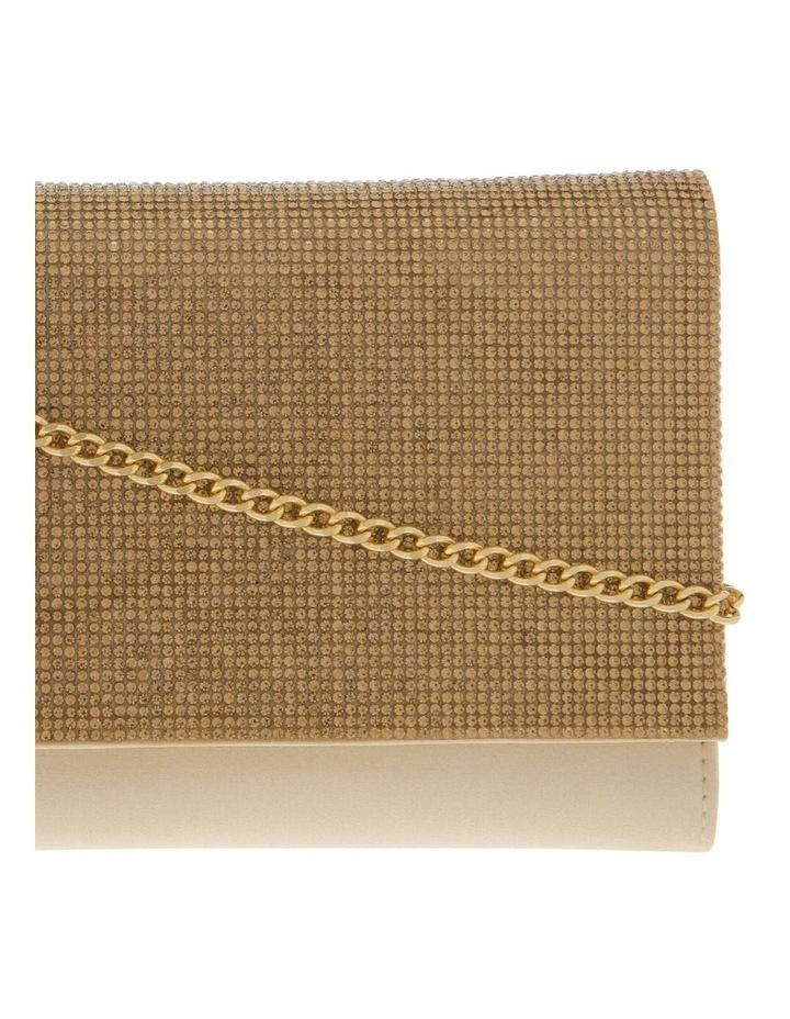 Athena Glitter Flap Over Gold Clutch Bag image 3